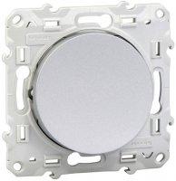 Schneider Electric Odace Алюминий Выключатель кнопочный 10A (схема 1A) купить в интернет-магазине Азбука Сантехники