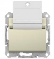 Schneider Electric Sedna Бежевый Выключатель карточный 10A купить в интернет-магазине Азбука Сантехники