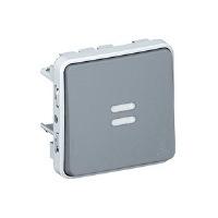 Legrand Plexo Серый Переключатель 1-клавишный на 2 направления с подсветкой 10A IP55 купить в интернет-магазине Азбука Сантехники