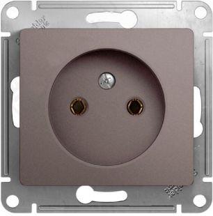 Schneider Electric Glossa Платина Розетка б/з 16A 250В механизм купить в интернет-магазине Азбука Сантехники