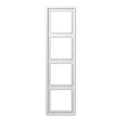 Jung LS 990 Белый Рамка 4-постовая купить в интернет-магазине Азбука Сантехники