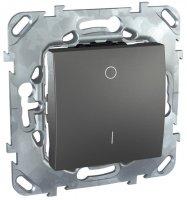 Schneider Electric Unica Top Графит Выключатель 1-клавишный 2-полюсный 16A (схема 1) купить в интернет-магазине Азбука Сантехники