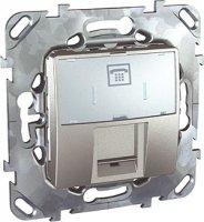 Schneider Electric Unica Top Алюминий Розетка телефонная 1-ая RJ12 6 контактов купить в интернет-магазине Азбука Сантехники