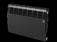 Радиатор биметаллический RoyalThermo Biliner 350 VD с нижним подключением, Noir Sable черный графитовый, 8 секций купить в интернет-магазине Азбука Сантехники