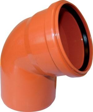 Отвод ПВХ Ø 200 мм × 45° для наружной канализации купить в интернет-магазине Азбука Сантехники