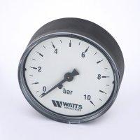 Манометр Watts аксиальный (0–10 бар), корпус — Ø 63 мм