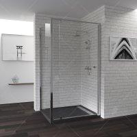 Душевой уголок RGW Passage PA-44, 700 × 1000 мм, прямоугольный, стекло шиншилла, профиль — хром купить в интернет-магазине Азбука Сантехники