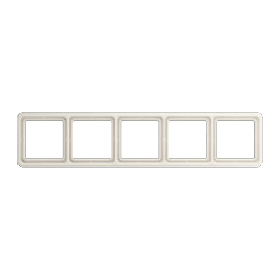 Jung CD 500 Слоновая кость Рамка 5-постовая купить в интернет-магазине Азбука Сантехники