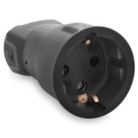 Legrand Элиум Черный Розетка 2К+3 16A винтовой зажим, резина купить в интернет-магазине Азбука Сантехники
