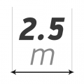 Ширина 2,5 м купить в интернет-магазине Азбука Сантехники