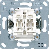 Jung Механизм Выключатель 2-клавишный 10A (505U) купить в интернет-магазине Азбука Сантехники