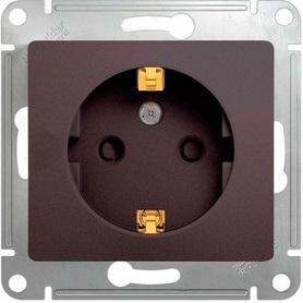 Schneider Electric Glossa Графит Розетка с/з со шторками 16A 250В механизм купить в интернет-магазине Азбука Сантехники