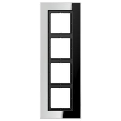 Jung LS plus Хром Рамка 4-постовая купить в интернет-магазине Азбука Сантехники