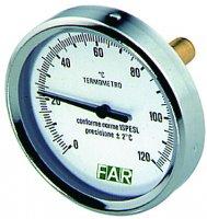 """Термометр FAR 0–120°C, зонд 50 мм, Ø 80 мм, торцевое соединение 1/2"""" купить в интернет-магазине Азбука Сантехники"""