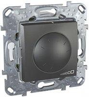 Schneider Electric Unica Top Графит Светорегулятор поворотный 40-1000 Вт для л/н г/л с обмоточным трансформатором купить в интернет-магазине Азбука Сантехники