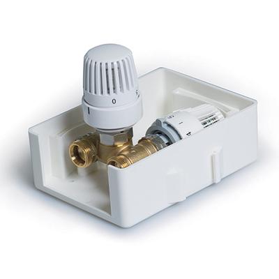 TIM TCB-K-RTL01 регулировочный короб с термостатическим клапаном и ограничителем температуры обратного потока купить в интернет-магазине Азбука Сантехники