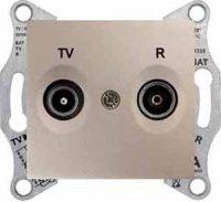 Schneider Electric Sedna Титан Розетка TV-R оконечная 1dB купить в интернет-магазине Азбука Сантехники