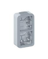Legrand Plexo Серый Коробка монтажная 2-местная для накладного монтажа вертикальная IP55 купить в интернет-магазине Азбука Сантехники