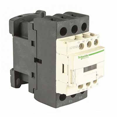 Schneider Electric TeSys D Контактор 380V 25A, 3НО / доп.конт. 1НО+1НЗ, катушка 24V=, винт.зажим купить в интернет-магазине Азбука Сантехники