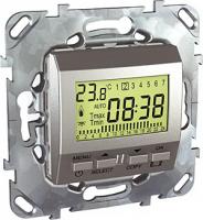 Schneider Electric Unica Top Алюминий Термостат электронный программируемый 8A (от+5С до+30С) купить в интернет-магазине Азбука Сантехники