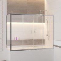 Шторка на ванну RGW Screens SC-91, (1800 × 700) × 1500 мм, с прозрачным стеклом, профиль — хром купить в интернет-магазине Азбука Сантехники