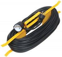 IEK УР30 Удлинитель на рамке 2P, 1 розетка, шнур 30м, 10A/250V купить в интернет-магазине Азбука Сантехники