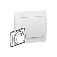 Legrand Galea Life Белый Накладка для светорегулятора поворотного c индикацией №7 759 03/01 купить в интернет-магазине Азбука Сантехники