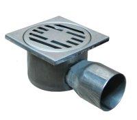Трап угловой 100 × 100 мм хромированный (нержавеющая сталь) купить в интернет-магазине Азбука Сантехники