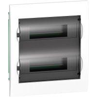 Schneider Electric Easy9 Бокс пластиковый встроенный с прозрачной дверью 2ряд/24мод купить в интернет-магазине Азбука Сантехники