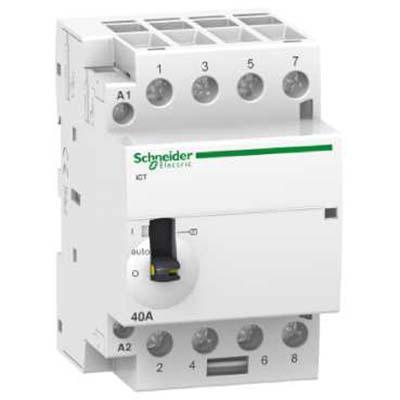 Schneider Electric Acti 9 iCT Контактор модульный 40A 230…240V 50Гц 4НО купить в интернет-магазине Азбука Сантехники