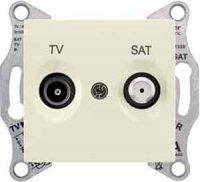 Schneider Electric Sedna Бежевый Розетка TV-SAT проходная 8dB купить в интернет-магазине Азбука Сантехники