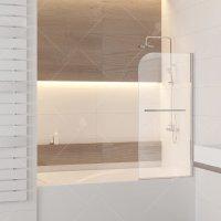 Шторка на ванну RGW Screens SC-15, 800 × 1400 мм, с прозрачным стеклом, профиль — хром купить в интернет-магазине Азбука Сантехники