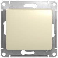 Schneider Electric Glossa Бежевый Выключатель кнопочный 10A (схема 1) купить в интернет-магазине Азбука Сантехники