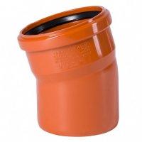 Отвод ПВХ Ostendorf Ø 110 мм × 15° для наружной канализации купить в интернет-магазине Азбука Сантехники