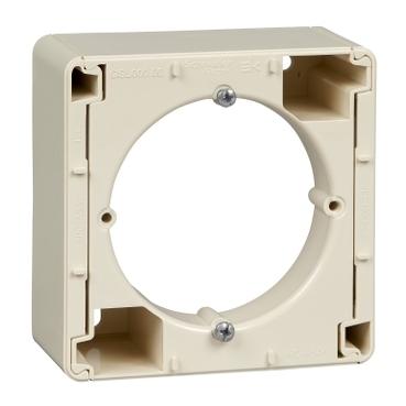 Schneider Electric Glossa Бежевый Коробка наружного монтажа купить в интернет-магазине Азбука Сантехники