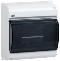 IEK КМПн 2/4 Бокс модульный пластиковый навесной с дверцей 140х89х83мм, 1Pяд/4мод, IP30 купить в интернет-магазине Азбука Сантехники