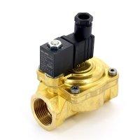 """Электромагнитный клапан для воды EMMETI 1"""" 220В нормально закрытый купить в интернет-магазине Азбука Сантехники"""