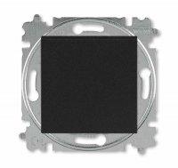 ABB Levit M Выключатель одноклавишный антрацит / дымчатый чёрный