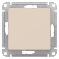 Schneider Electric AtlasDesign Бежевый Кнопка нажимная сх.1 10AX механизм купить в интернет-магазине Азбука Сантехники