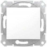 Schneider Electric Sedna Белый Выключатель 1-клавишный 10A купить в интернет-магазине Азбука Сантехники