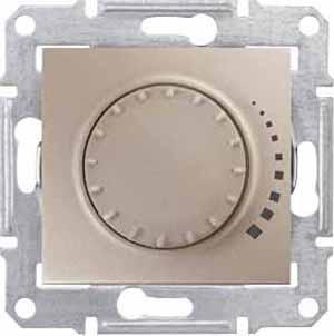 Schneider Electric Sedna Титан Светорегулятор поворотно-нажимной емкостной 25-325 Вт купить в интернет-магазине Азбука Сантехники