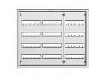 ABB U Шкаф с дверцей в нишу 684x810x120, DIN125мм-4ряда/144мод, IP31 / 30103