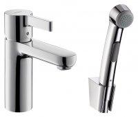 Смеситель Hansgrohe Metris S 31160000 для раковины с гигиеническим душем купить в интернет-магазине Азбука Сантехники