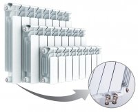 Радиатор биметаллический Rifar Base Ventil 500, нижнее правое подключение, 6 секций купить в интернет-магазине Азбука Сантехники