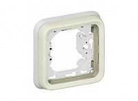 Legrand Plexo Серый Коробка монтажная накладная 1-местная для штепсельных розеток 20A IP55 купить в интернет-магазине Азбука Сантехники