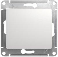 Schneider Electric Glossa Белый Выключатель кнопочный 10A (схема 1) купить в интернет-магазине Азбука Сантехники