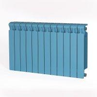 Радиатор биметаллический RIFAR Monolit 500, боковое подключение, 12 секций, сапфир (RAL 5024 синий) купить в интернет-магазине Азбука Сантехники