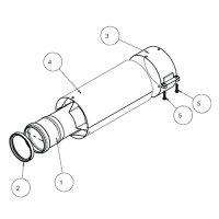 Труба для коаксиального дымохода Protherm Ø 60/100 мм, длина 0,2 м, для котлов ГЕПАРД 2015, ПАНТЕРА купить в интернет-магазине Азбука Сантехники