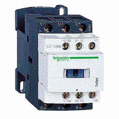 Schneider Electric TeSys D Контактор 380V 9A, 3НО / доп.конт. 1НО+1НЗ, катушка 24V=, винт.зажим купить в интернет-магазине Азбука Сантехники