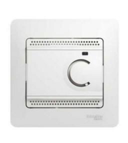 Schneider Electric Glossa Белый Термостат электронный теплого пола с датчиком 10A купить в интернет-магазине Азбука Сантехники